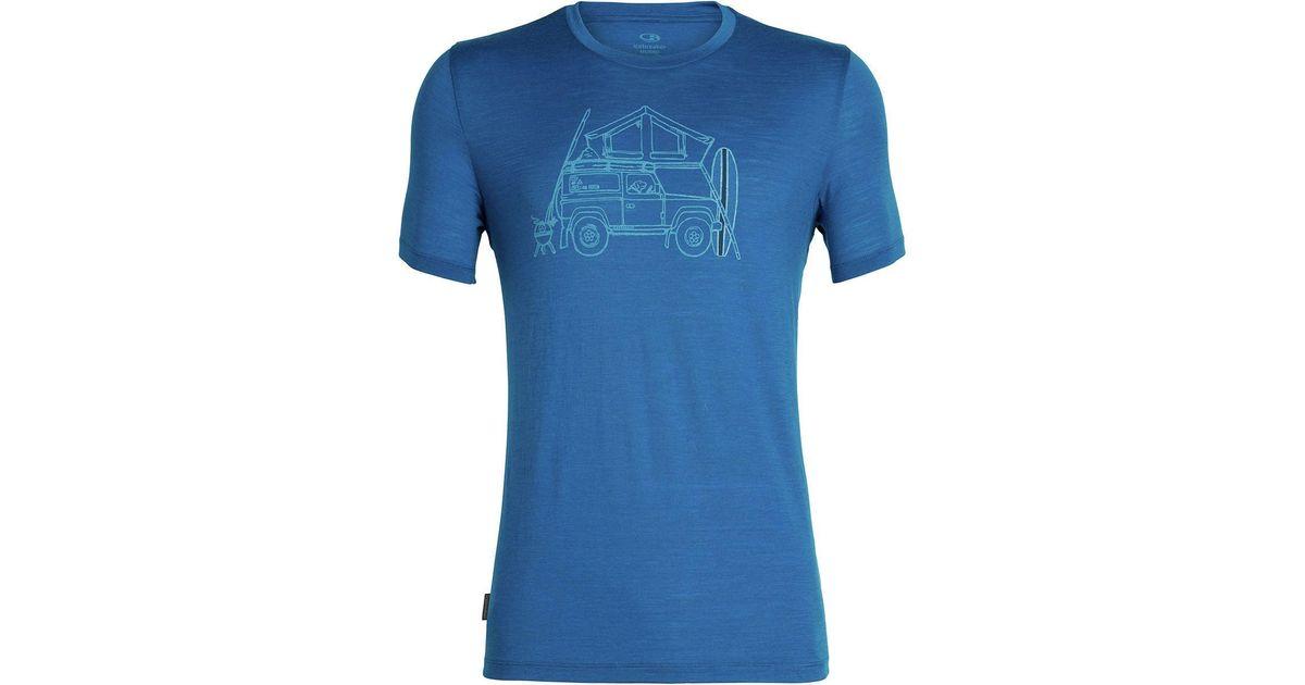 50824114 Lyst - Icebreaker Tech Lite Graphic Short-sleeve Crewe Shirt in Blue for Men