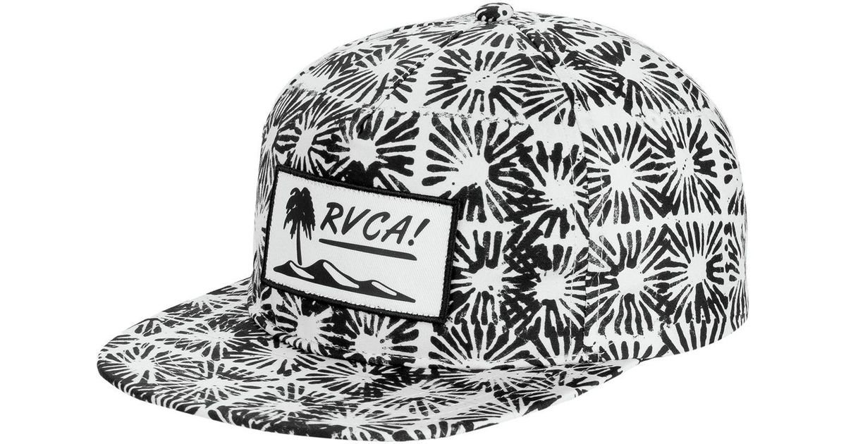 Lyst - RVCA Duh Loris Unstructured Hat in Black for Men e46f7ab08b1