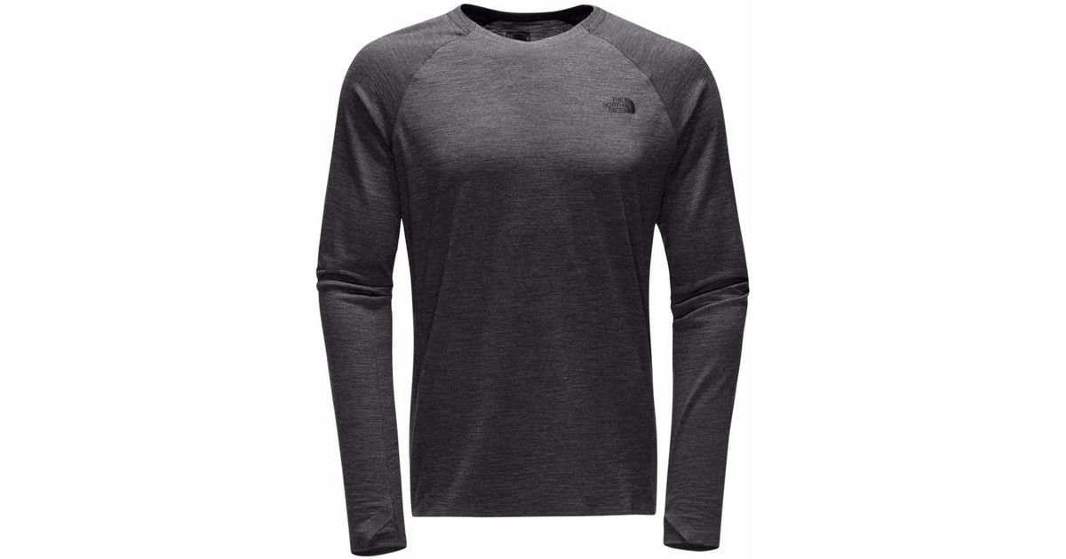 303cabaad The North Face Gray Merino Wool Baselayer Crew-neck Top for men