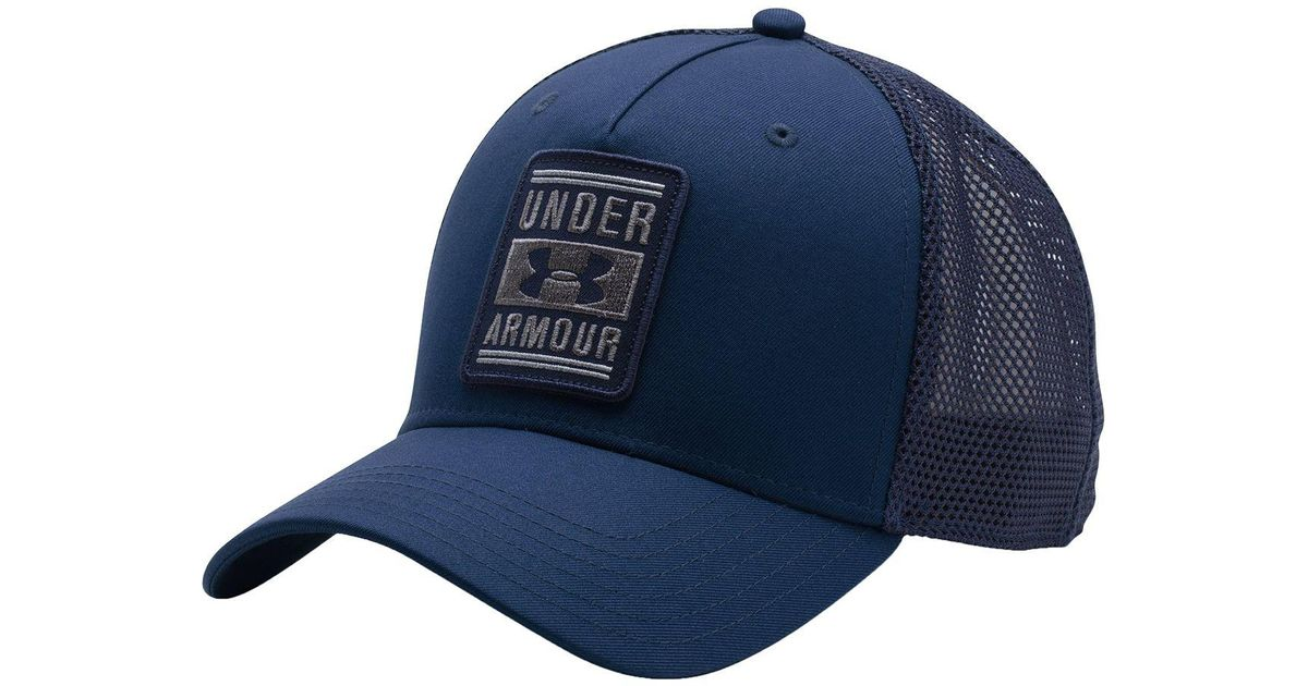 Lyst - Under Armour Outdoor Performance Trucker Cap in Blue for Men 6e67893a4876