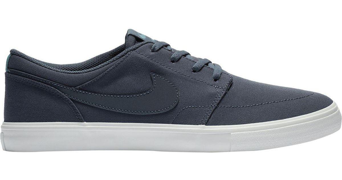 sports shoes dfa3f 58722 Lyst - Nike Sb Solarsoft Portmore Ii Canvas Shoe in Blue