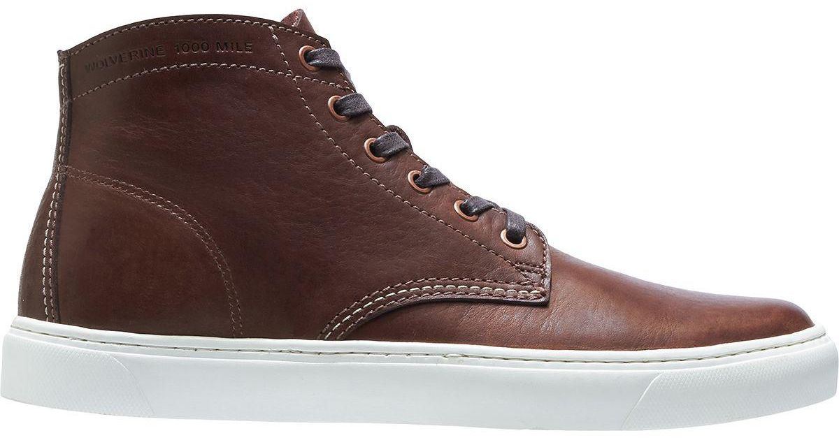 0f8a9b221dc Wolverine Brown 1000 Mile Original Sneaker for men