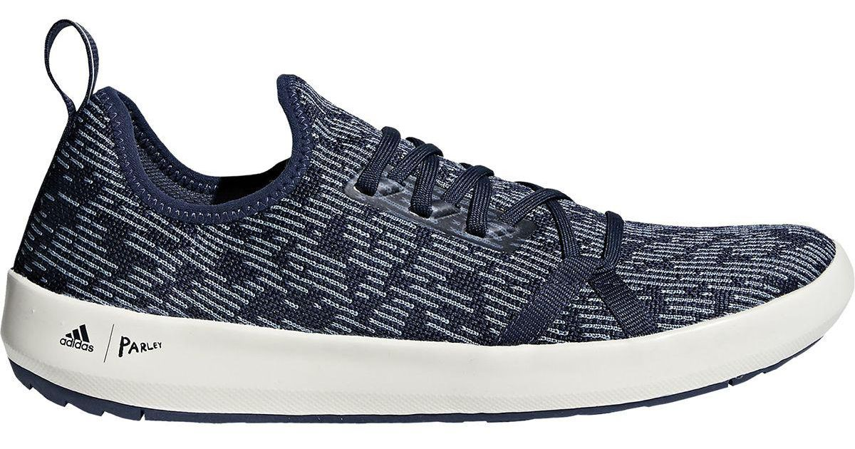 the latest b8a42 f4dc4 Adidas Originals Blue Terrex Climacool Boat Parley Shoe for men