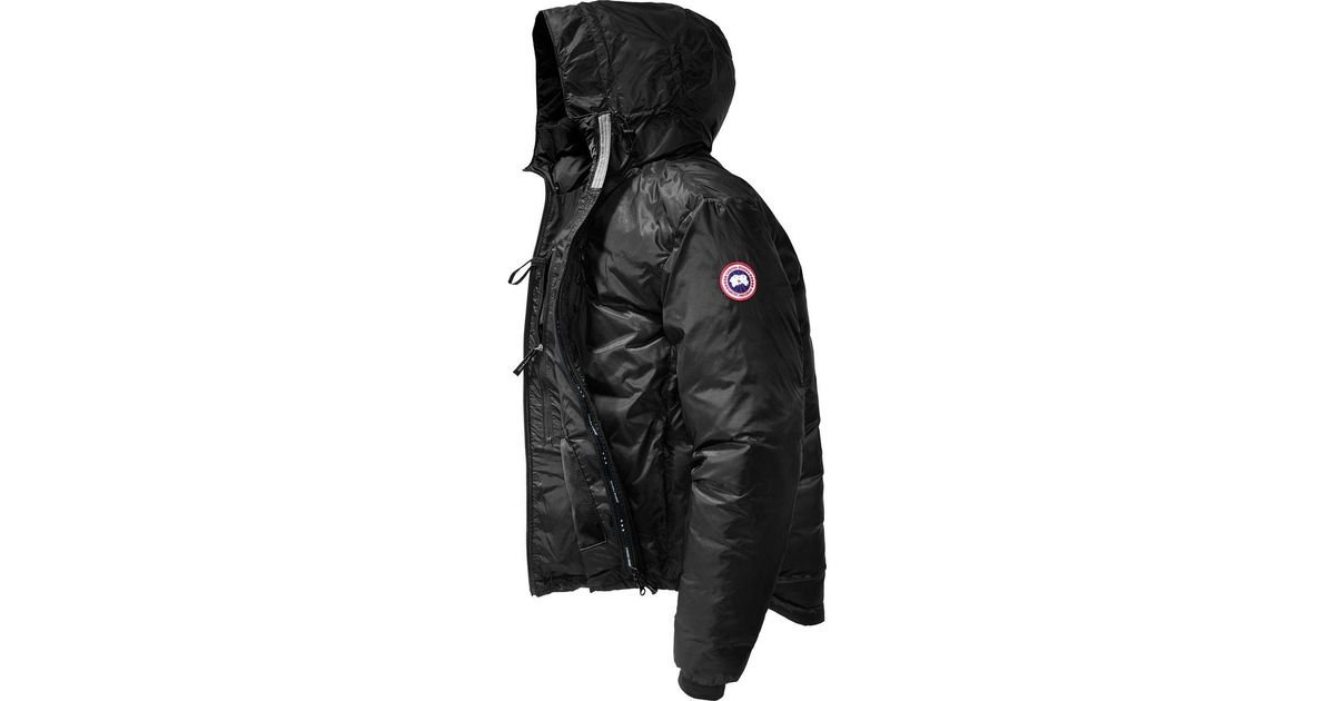 lyst canada goose lodge down hooded jacket in black for men rh lyst com canada goose lodge down hooded jacket canada goose chateau shell hooded down parka