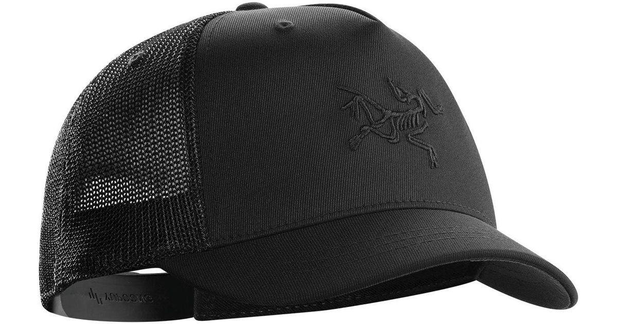 Lyst - Arc teryx Short Brim Trucker Hat in Black for Men 07f482e98d1