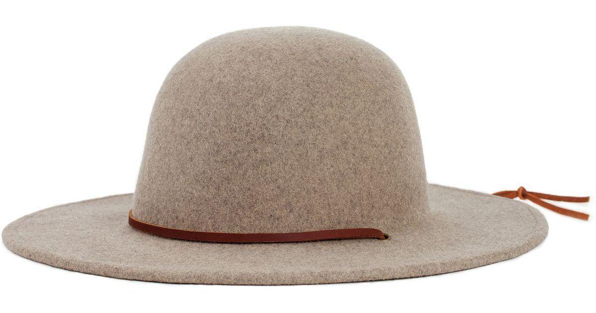 ... germany lyst brixton tiller hat in natural c614c 23c30 ce0586ad39d4