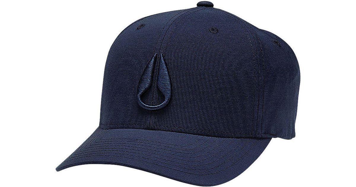1e471fe2b Nixon Blue Deep Down Athletic Flexfit Hat for men