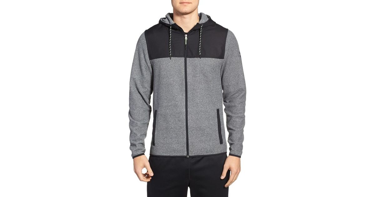 buy real enjoy free shipping good reputation Under Armour Gray 'coldgear Infrared' Full Zip Fleece Hoodie for men