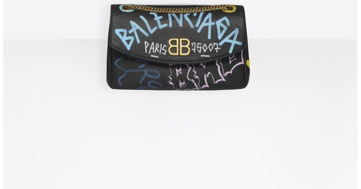 En M Bb Black Round Balenciaga Coloris Graffiti ny0OmNwv8