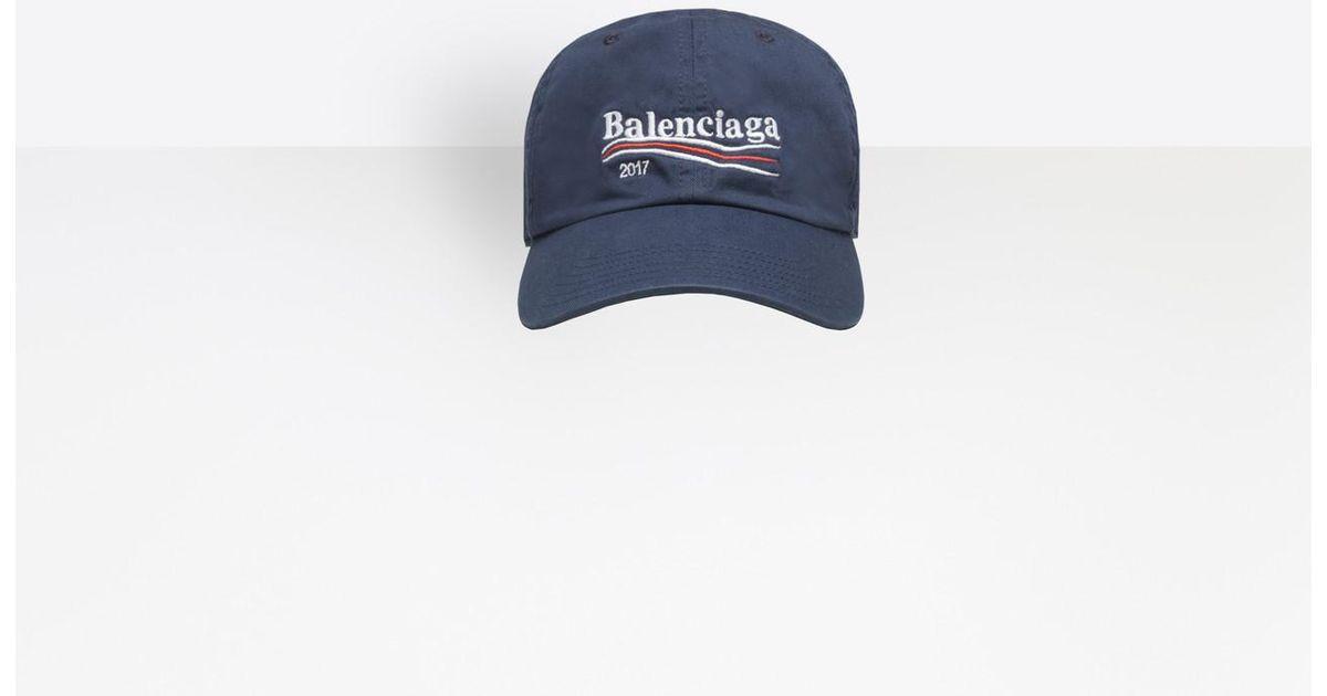 reliable quality footwear exquisite design Balenciaga Blue Embroidered Logo Baseball Cap for men