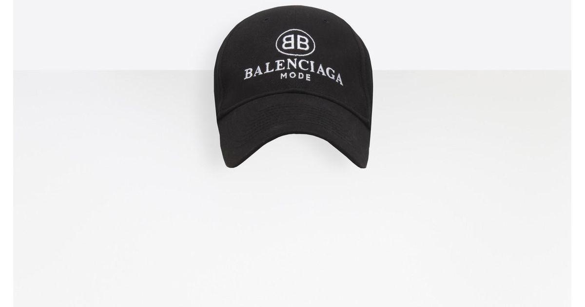 Balenciaga Cotton Bb Mode Cap in Black
