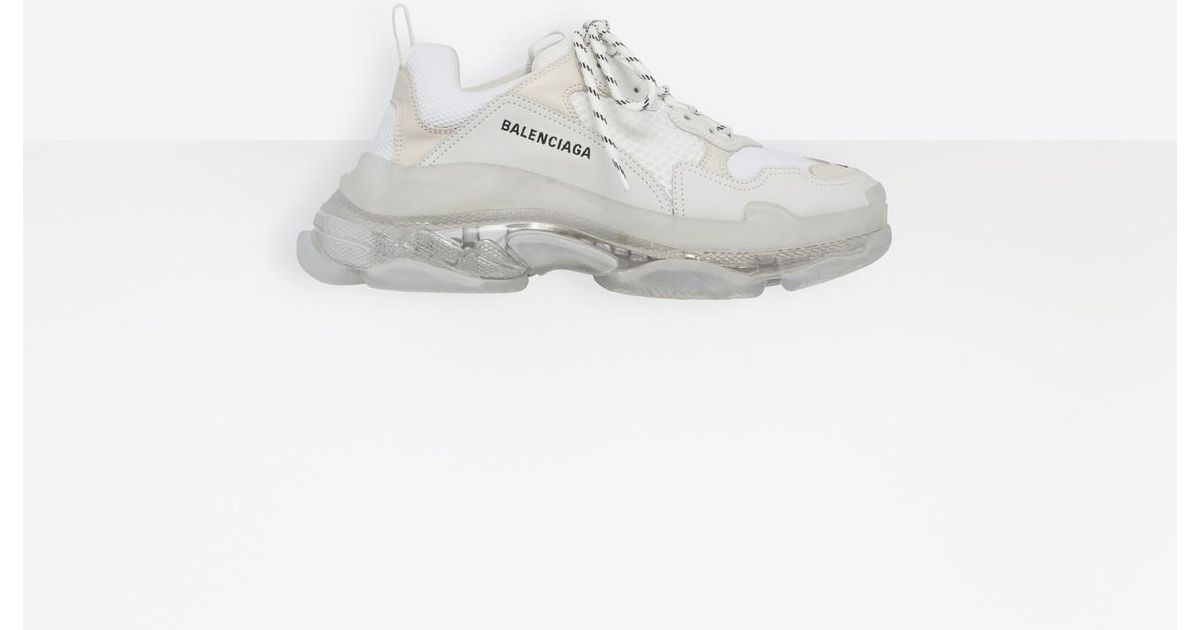 63d1fccc876fed Balenciaga Triple S Clear Sole Trainers in White for Men - Lyst
