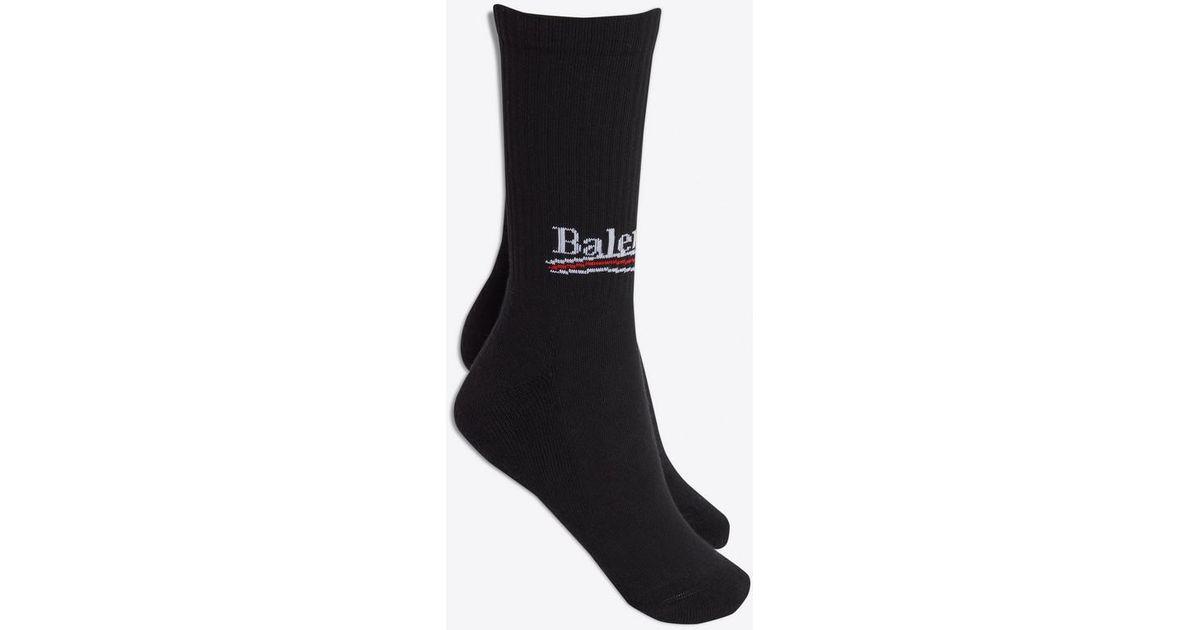 Chaussettes Balenciaga Pour Homme En Coloris Black