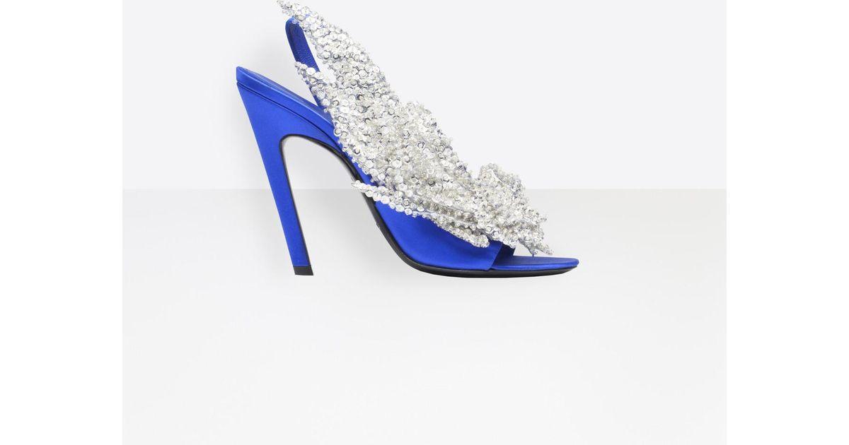 En Slash Balenciaga Sandales Blue Talon Coloris I7fgybY6v