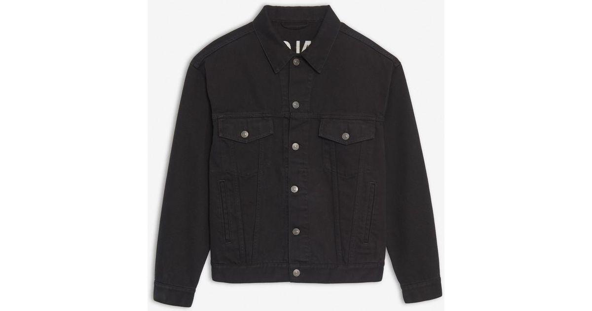 7a6b84cbd044a1 Lyst - Balenciaga Logo Denim Jacket in Black