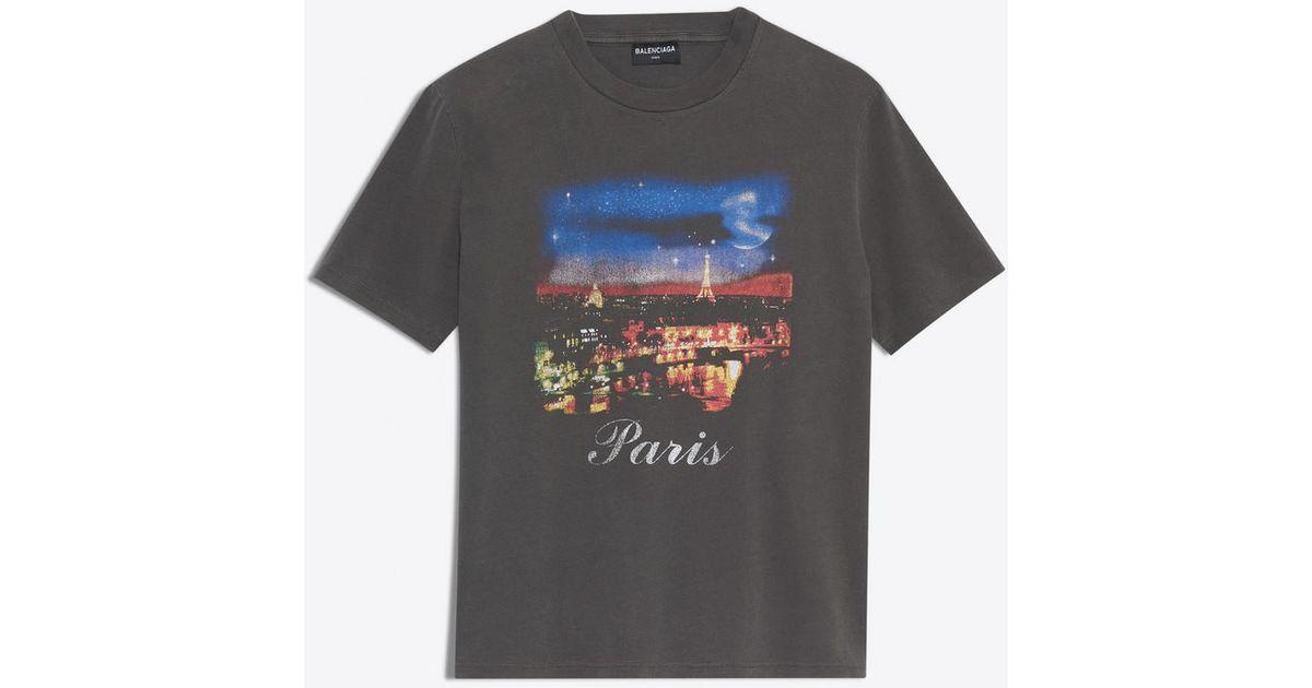 1f81e751 Balenciaga Paris T-shirt in Blue for Men - Lyst