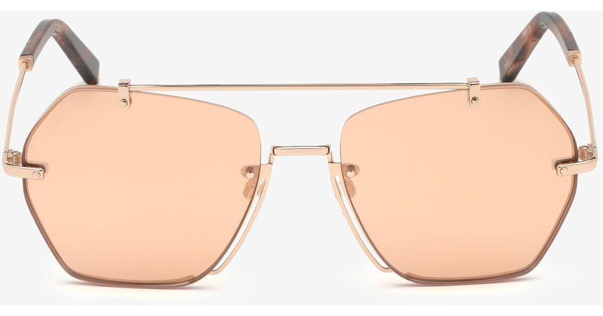 b3b9f93298 Lyst - Bally Cruz Geometric Sunglasses in Pink