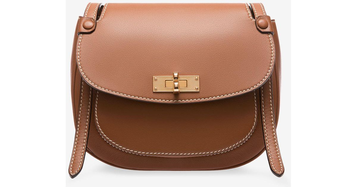 Lyst - Bally B Turn Saddle Bag Medium in Brown 0b4c4e4971