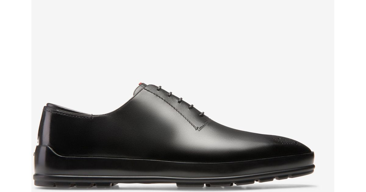 Scamardo Black, Mens leather Derby lace-up shoe in black Bally