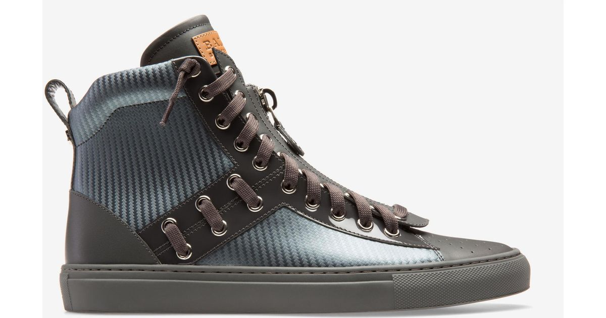 Bally Leather Hekem in Grey (Gray) for