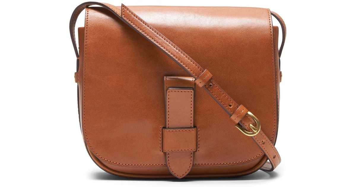 009f7a971a91 Lyst - Banana Republic Italian Leather Saddle Bag in Brown - Save 7%