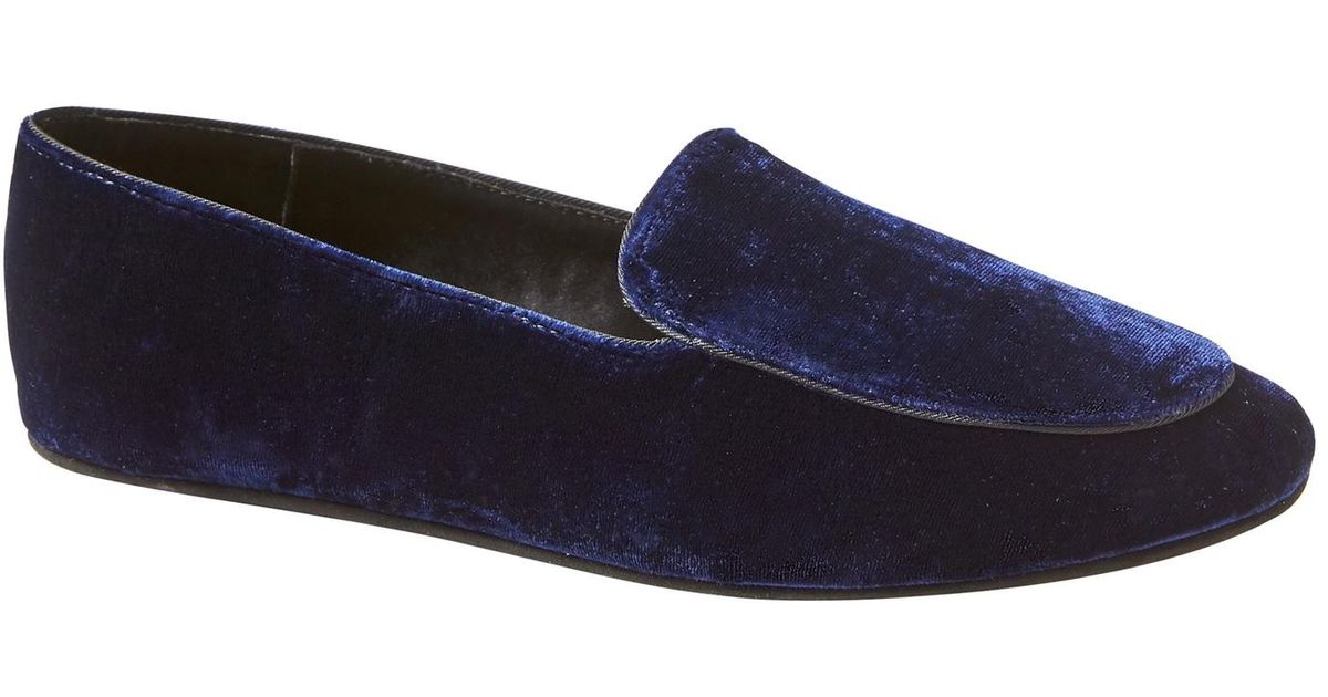 c9bcc7cb6e8 Lyst - Banana Republic Silk-blend Velvet Indoor Slipper in Blue