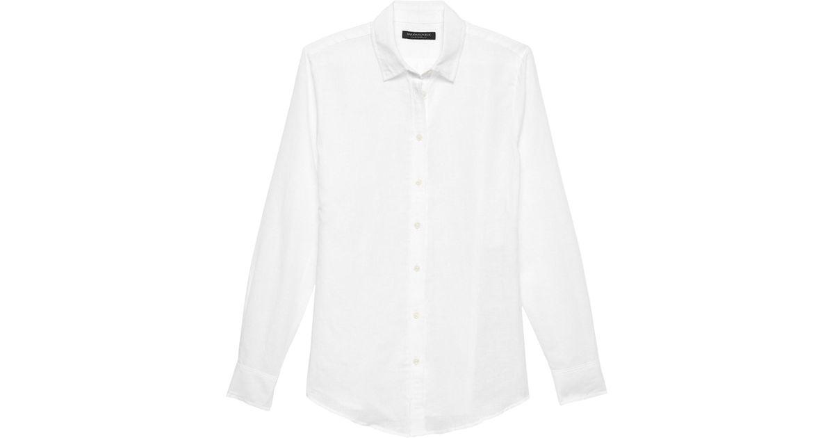 6d667197c0 Lyst - Banana Republic Petite Dillon Classic-fit Linen-cotton Shirt in  White for Men