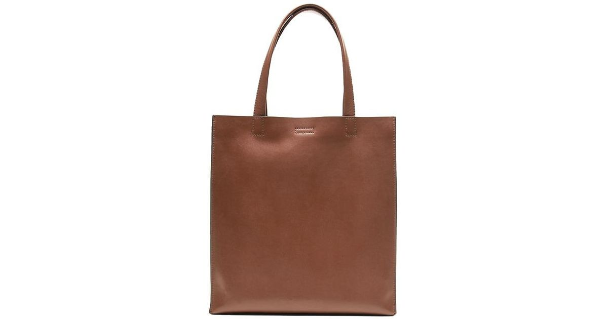 Lyst - Banana Republic Portfolio Structured Leather Tall Tote in Brown