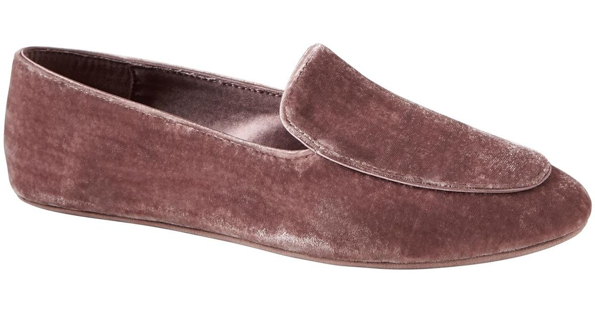 c4318dbee4e Lyst - Banana Republic Silk-blend Velvet Indoor Slipper in Purple