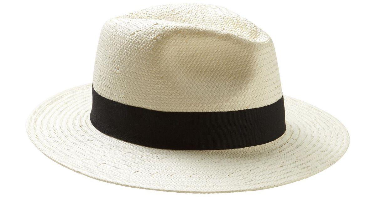 370e1cb3 Banana Republic Factory Neutral Panama Hat - Lyst