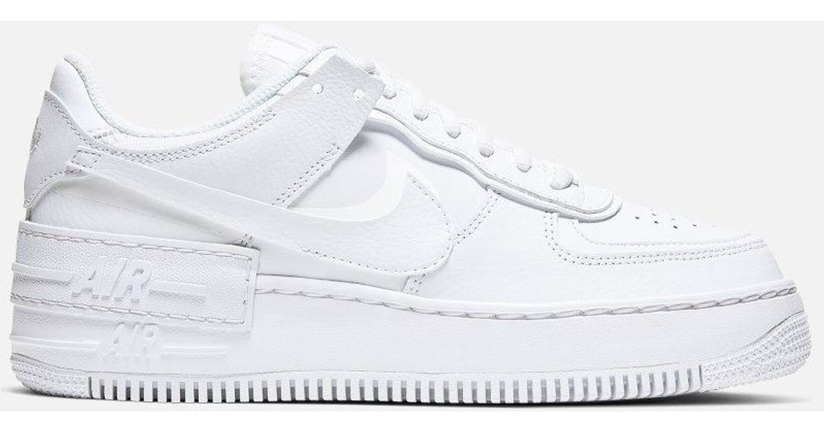 Nike Air Force 1 Shadow Low-top sneakers in White - Lyst