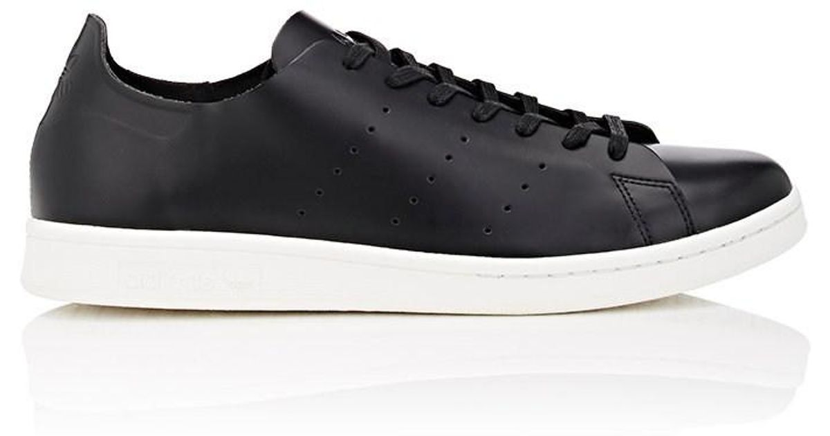Adidas Black Stan Smith Deconstructed Leather Sneakers