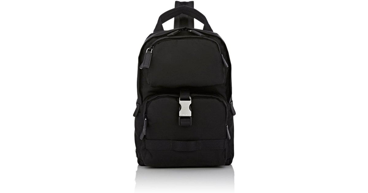 ff755d74bb92 Prada Sling Backpack in Black for Men - Lyst