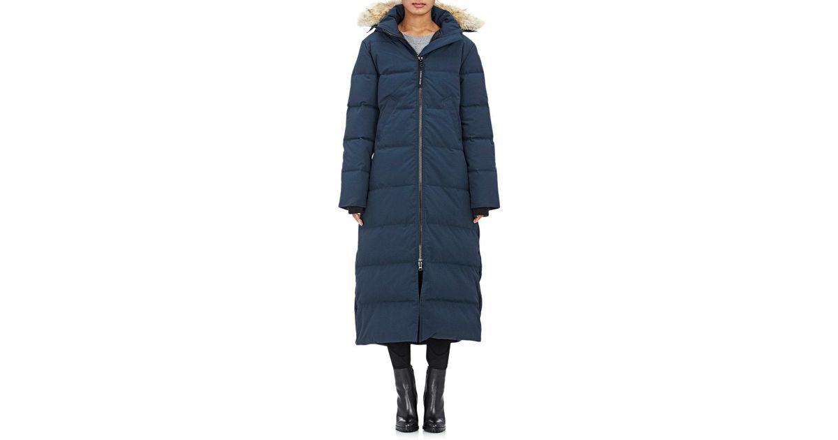 ... Lyst - Canada Goose Mystique Fur in Blue ...