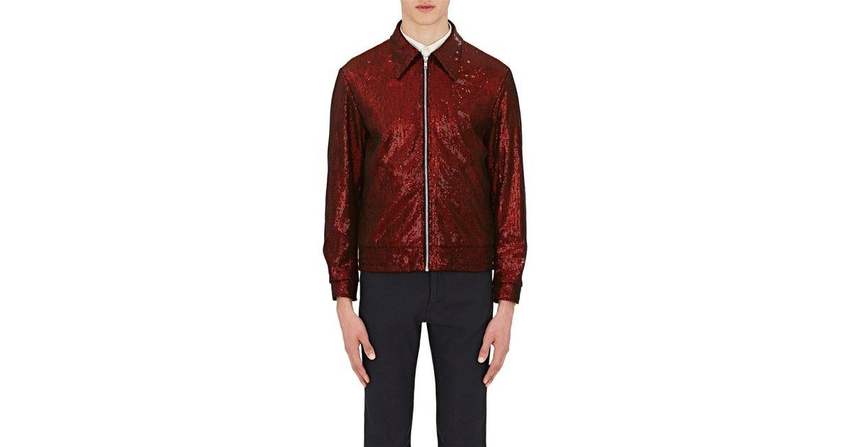 c09a5313 Maison Margiela Sequin Bomber Jacket in Red for Men - Lyst