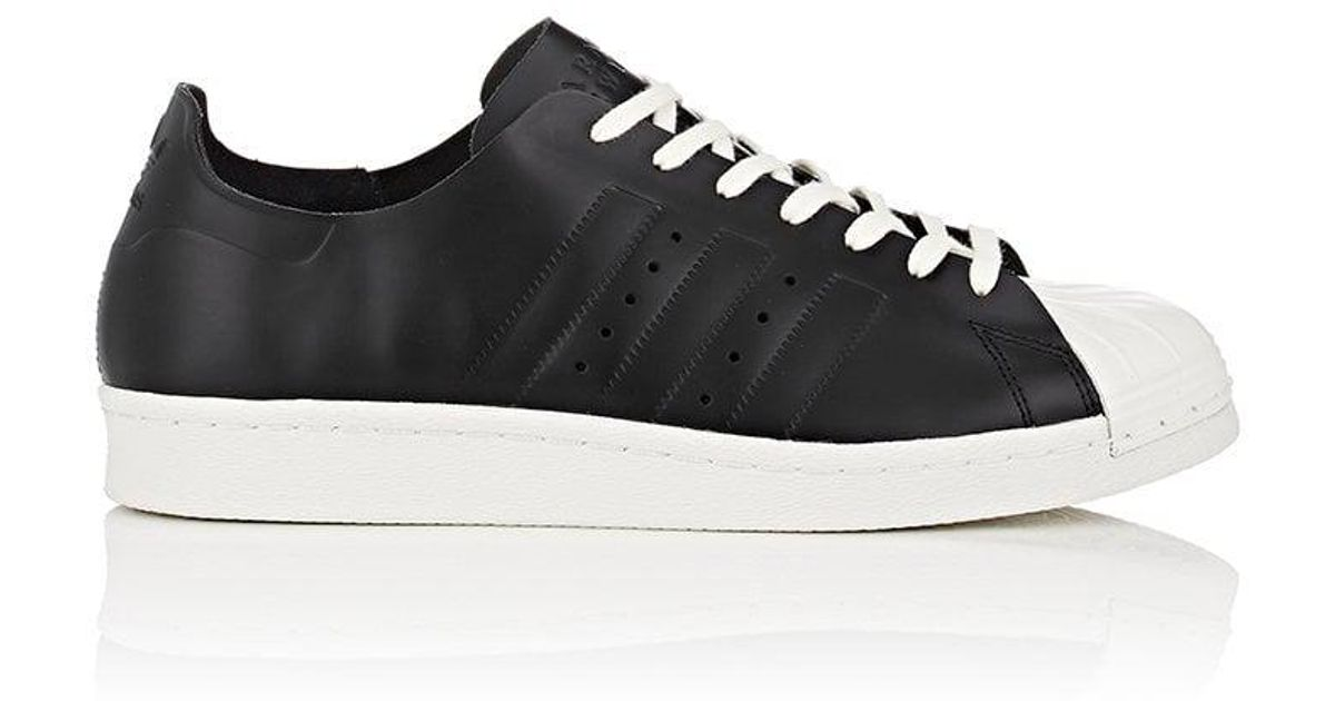 adidas superstar all black white sole