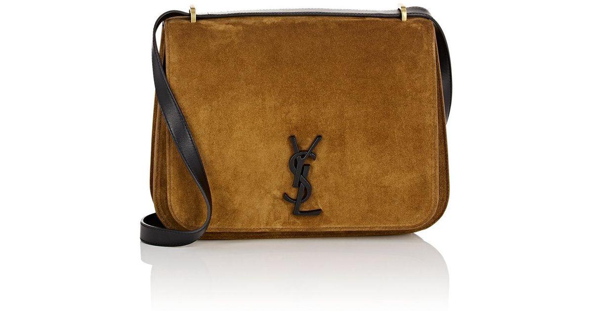 Saint Laurent Spontini Medium Suede Saddle Bag in Brown - Lyst d22006a60b245