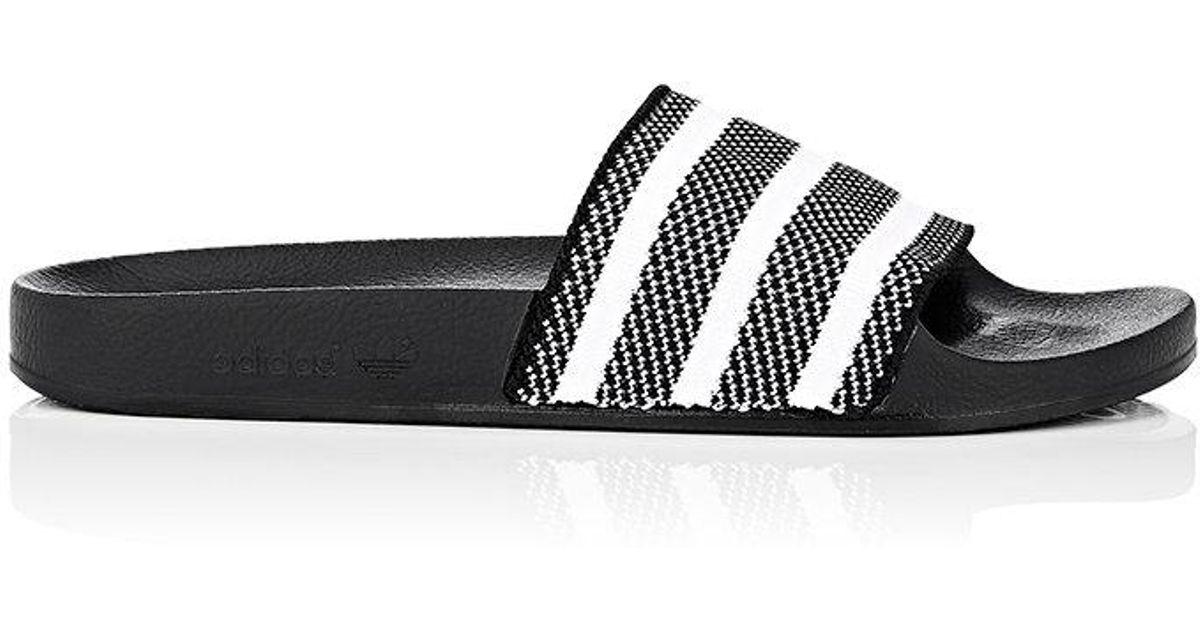 d4a6dc3016f2 Lyst - adidas Originals Adilette Primeknit Slides in Black for Men
