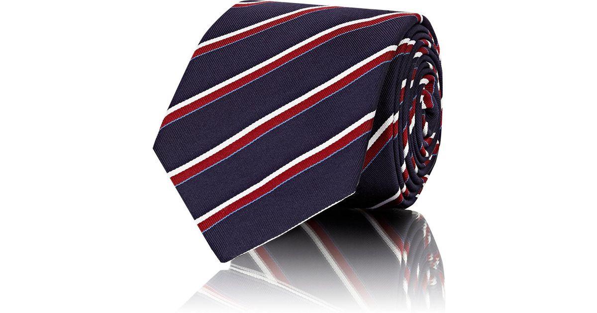 Mens Cravate Rayée Sergé De Soie De Mélange Barneys New York KbYo0uH