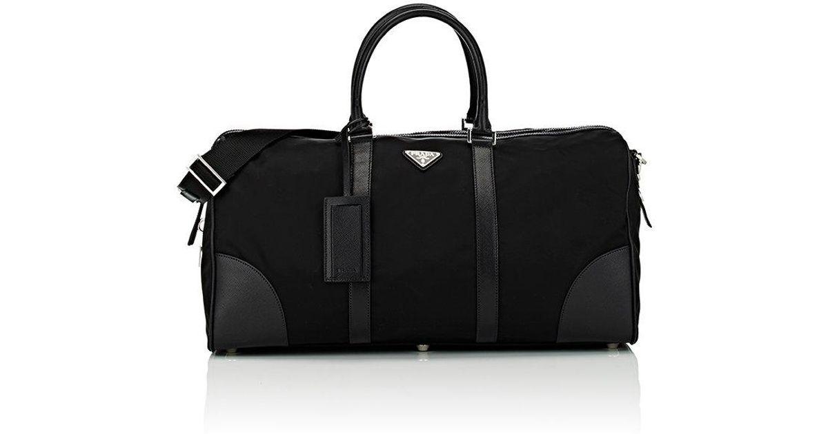 e3ecfb9d7c7c Prada Gym Bag in Black - Lyst