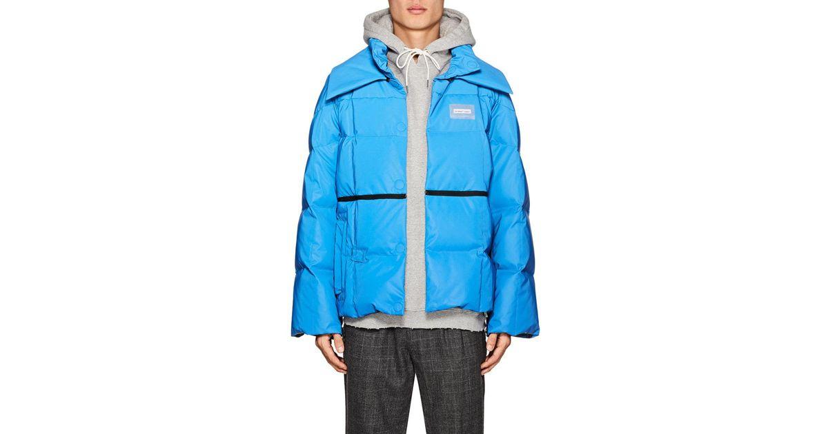 3d0f6660c Off-White c/o Virgil Abloh Blue Down Tech-taffeta Puffer Jacket for men