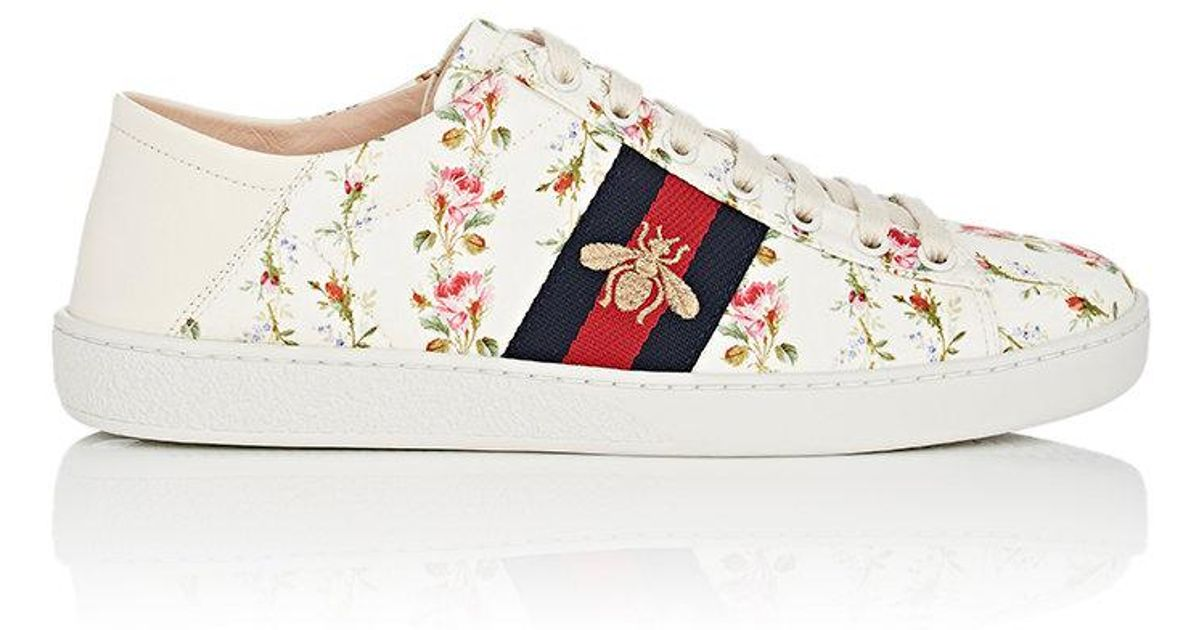 9f1f85c8044b Lyst - Gucci New Ace Canvas Sneakers in White