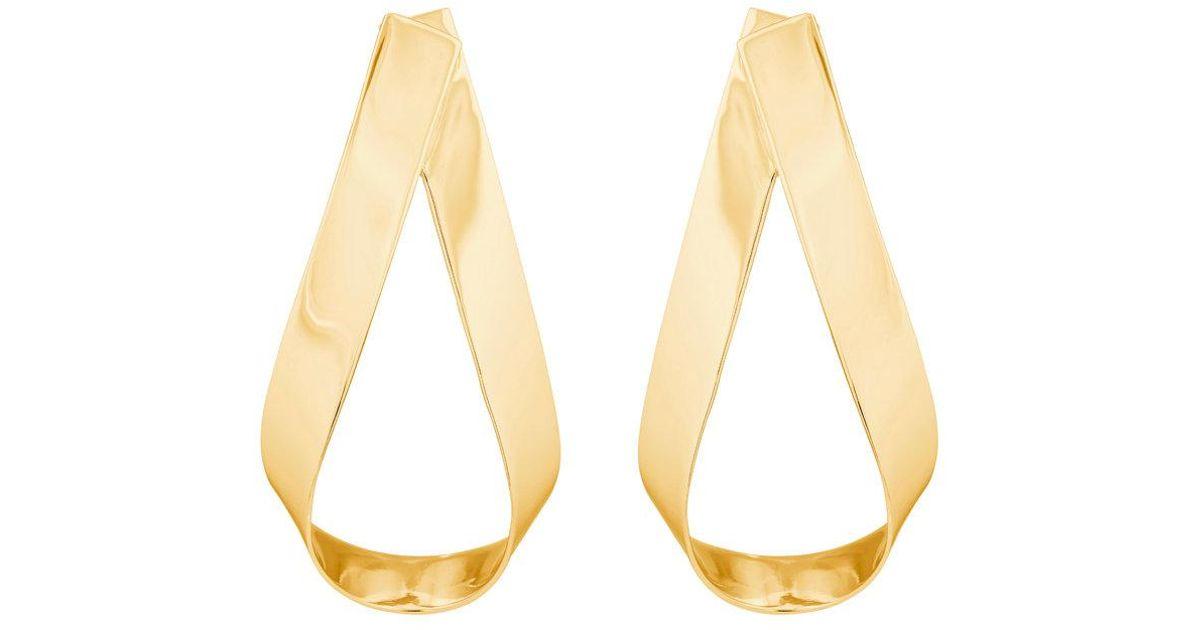 Script Doorknocker Silver Rhodium-Plated Earrings Jennifer Fisher 4WsDFAmd