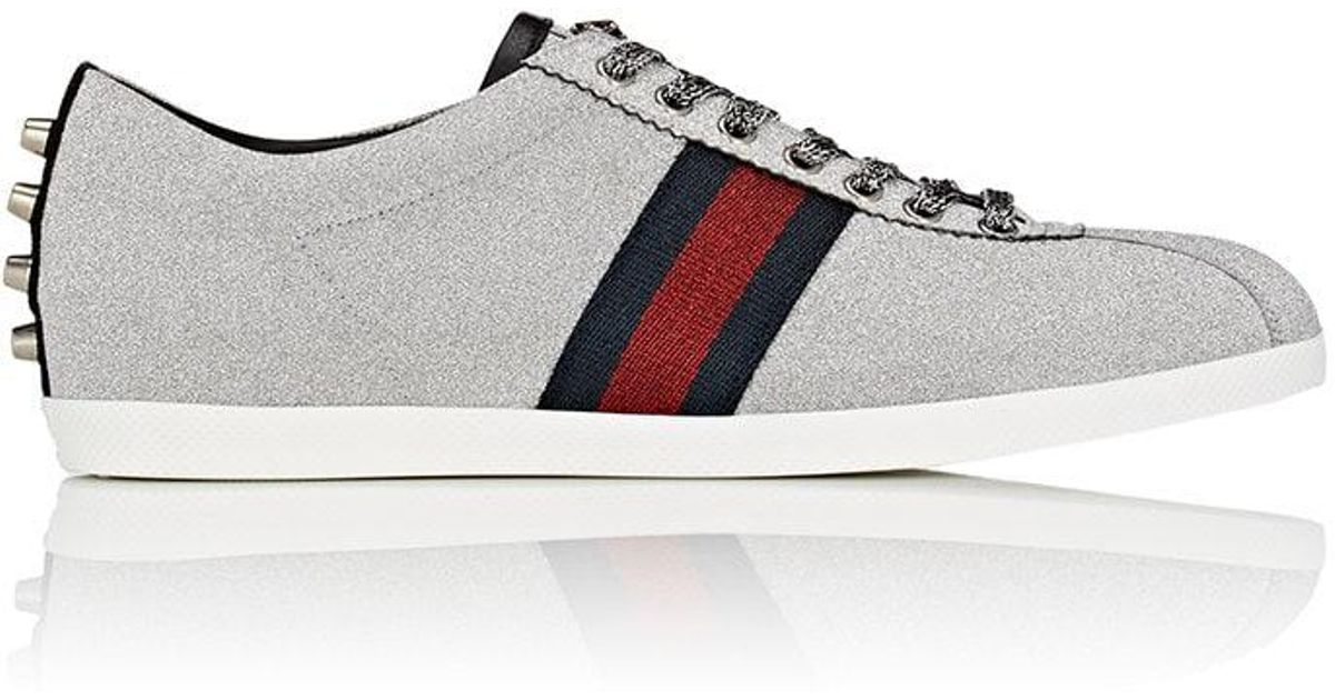 f049ffdb2 Lyst - Gucci Glitter Fabric Sneakers in Metallic for Men