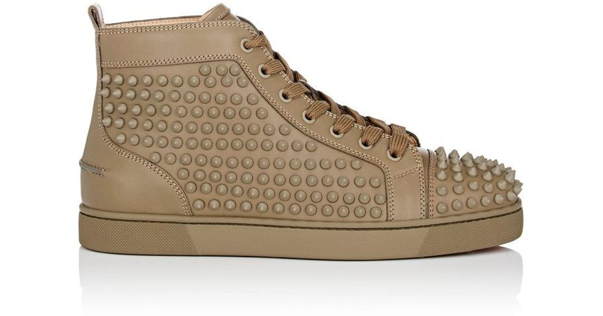 594c7943faa Christian Louboutin Green Louis Orlato Leather Sneakers