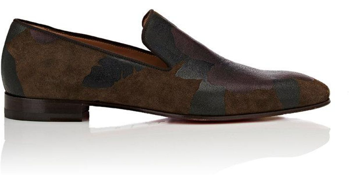 differently ea674 a6ce2 Christian Louboutin Brown Dandelion Flat Suede Venetian Loafers for men