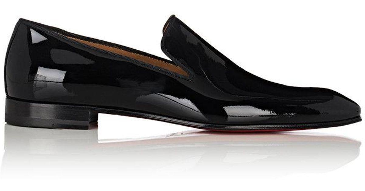 e02311854f1 Christian Louboutin Black Dandelion Patent Leather Venetian Loafers for men