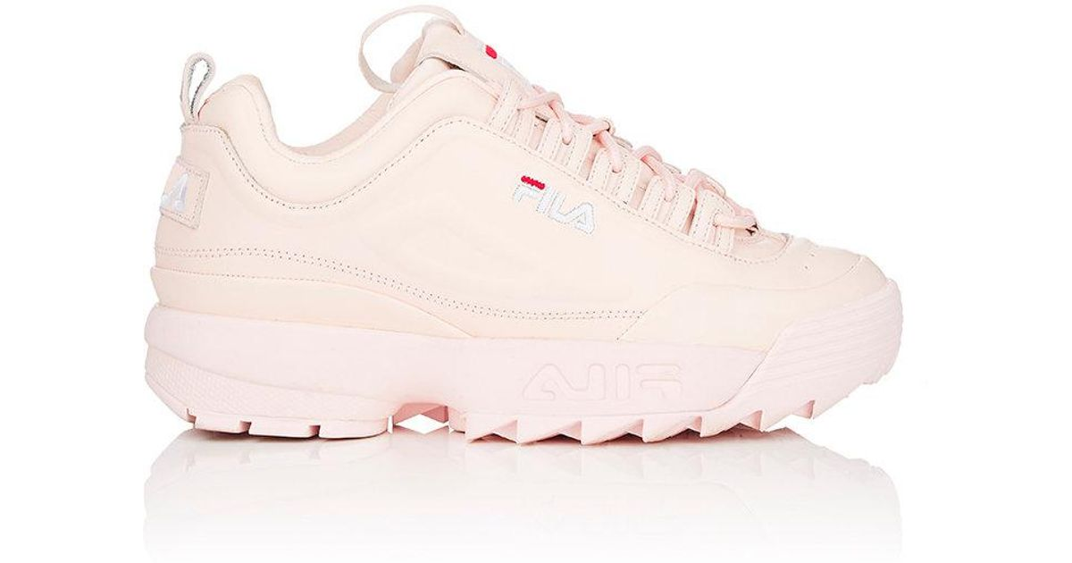 d5c7c07fff486 Lyst - Fila Disruptor 2 Lux Leather Sneakers in Pink