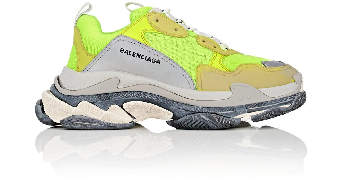 Balenciaga Leather Triple S Sneakers in