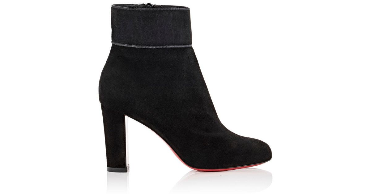 official photos 98b14 0b2bd Christian Louboutin Black Moulamax Suede Ankle Boots